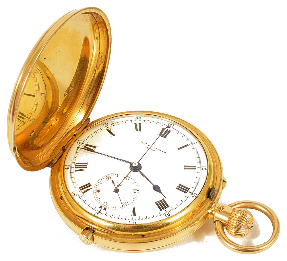 A Charles Frodsham 18ct gold full hunter pocket watch